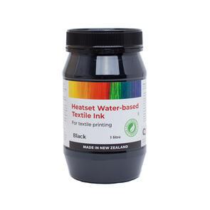 Heatset Water Based Textile Ink Black