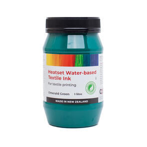 Heatset Water Based Textile Ink Emerald Green