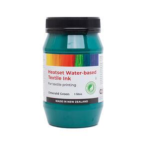 Heatset Water Based Textile Ink Emerald Green