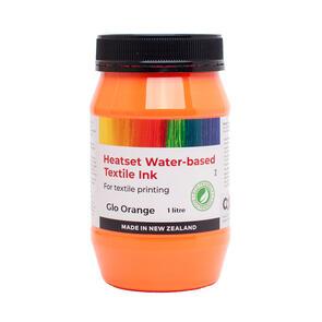 Heatset Water Based Textile Ink Glo Orange