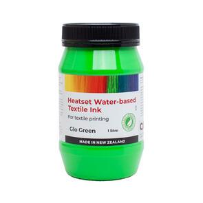 Heatset Water Based Textile Ink Glo Green