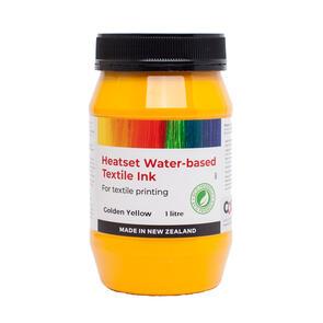Heatset Water Based Textile Ink Golden Yellow