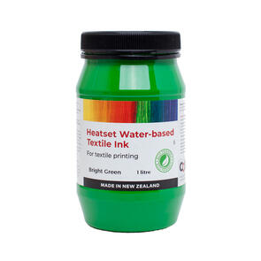 Heatset Water Based Textile Ink Bright Green