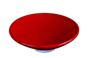 Abbots Deep Glossy Red Midfire Brushable Glaze