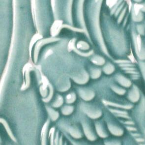 Amaco Gloss Lowfire Brushable Glaze LG-25 turquoise green