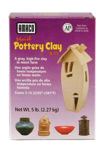 Amaco Moist Pottery Clay Grey