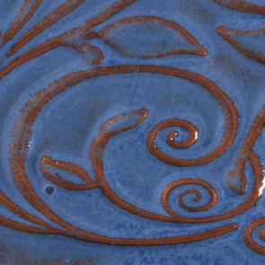 Amaco Opalescent Lowfire Brushable Glaze O-23 Sapphire Blue