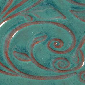 Amaco Opalescent Lowfire Brushable Glaze O-26 Turquoise