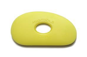 Mudtools Polymer Ribs Yellow (Soft) Large Kidney 5