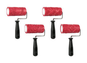 Amaco Textured Clay Rollers 4 Pack 110mm Wide