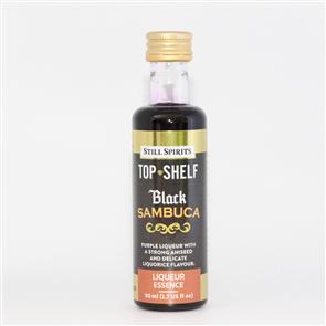 Top Shelf Black Sambuca Liqueur 1.125L