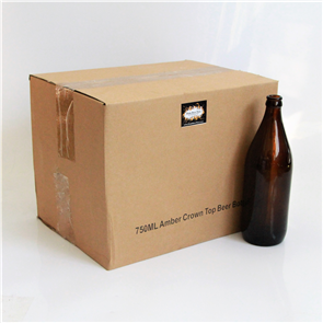 Amber Beer Bottles 750ml x12