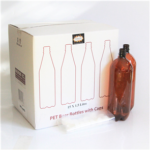 15x 1.5L PET Bottles + Caps