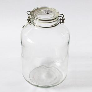 5L Glass Swing-Top Container (Mason Jar)