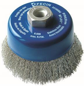 FECIN CW Cup Brush Inox 100mmx M14 0,30