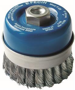 FECIN TK Cup Brush Inox  80mm x M14 0,50