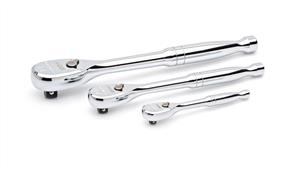 """GEARWRENCH 81206P Set Ratchet Mixed 3Pce FP 1/4"""",3/8',1/2"""""""