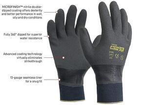 APEX AG503-9 Gloves Nitrile Fully Dipped Large(ACTIVE 503)
