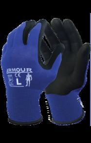 ARMOUR Black Foam Nitrile Gloves Medium