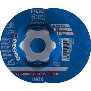 PFERD Combiclick Solid Grinding Disc 115mm SG Inox