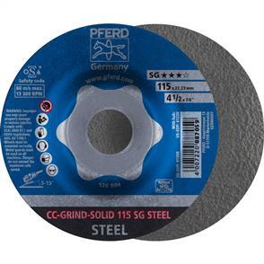 PFERD Combiclick Solid Grinding Disc 115mm SG Steel