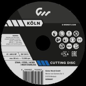 G.WENDT Inox Cut Off Disc 125x1.0mm A46U-BF