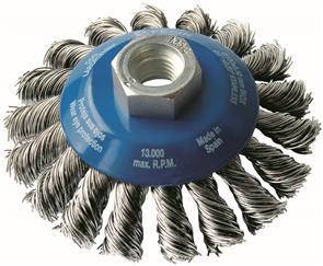FECIN TK Conical Brush Inox 100mmxM14 (KBG)