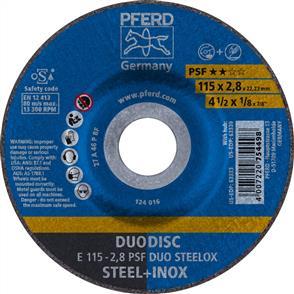 PFERD Combidisc Abrasive Disc E 115x2.8mm A46 PPSF Inox Duo