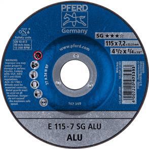 PFERD Aluminium D/C Grinding Disc E 115x7.0 A24 NSG