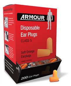ARMOUR Foam Ear Plugs 200PK (Class 5)