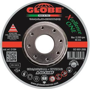 GLOBE Cut Off D/C Cutting Disc 125x1.0mm ZA 60 SXBF-X ONE