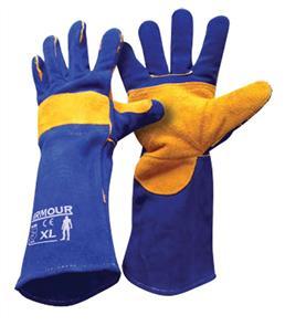 ARMOUR Welding Gloves Blue Kevlar 406mm