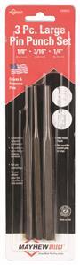 MAYHEW #89052 Long Pin Punch Set 3Pce