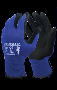 ARMOUR Black Foam Nitrile Gloves 2XLarge