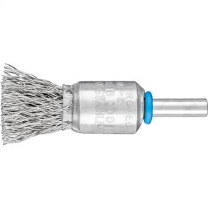 PFERD Shank Mounted End Brush, Crimped PBU 1516/6 Inox 0,35