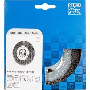 PFERD Wheel Brush, Crimped POS RBU 12512/M14 Steel 0,30