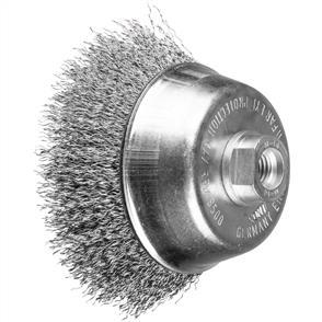 PFERD Threaded Cup Brush, Crimped POS TBU 100/M14 Inox 0,30