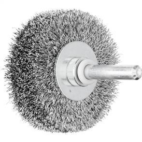 PFERD Shank Mounted Wheel Brush, Crimped RBU 5015/6 Steel 0,20