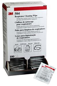 3M Respirator 504, Cleaning Wipes PK100