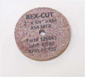 REXCUT Grinding Wheel T1  50x10.0x 6mm A 36GFX