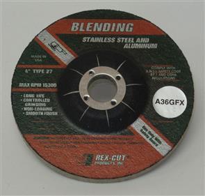 REXCUT D/C Grinding Disc T27 100x6.0x16mm A36 GFX
