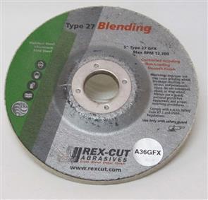 REXCUT D/C Grinding Disc T27 125x6.0x22mm A36 GFX