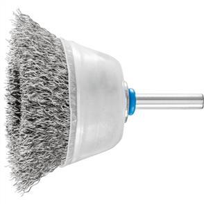 PFERD Shank Mounted Cup Brush, Crimped TBU 6015/6 Inox 0,30