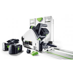 FESTOOL 160mm CORDLESS PLUNGE SAW SET RAIL, 2 BATTERIES AND a CHARGER
