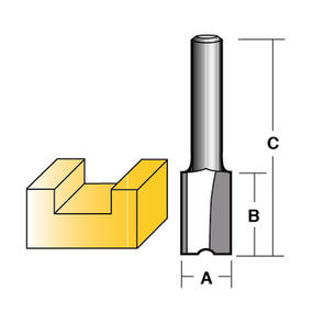 """carbitool TWO FLUTE 12.7MM (1/2"""") SHANK"""