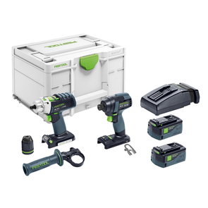 FESTOOL TID/PDC 18V 2 Piece Impact Driver and Hammer Drill Set