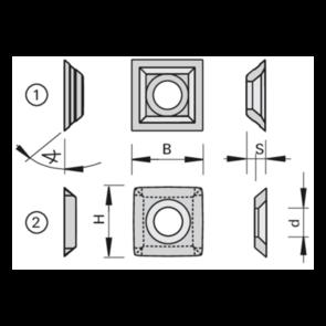 LEUCO TK 13.8 X 13.8 X 2.5 C/SINK HOLE BOARD 06