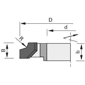 LEUCO EDGE ROUNDING HW ONE-PART VERSION 65mm dia 1.3 radius L/HAND TCT