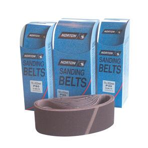 NORTON CLOTH BELT 75mm(W) x 610mm(L) (100 GRIT) per box